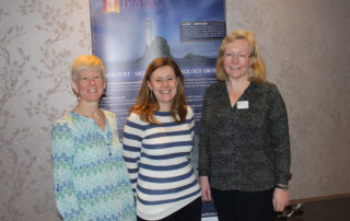 Dr Fiona Beglane, Dr Susan Flavin and Dr Meriel McClatchie at IPMAG